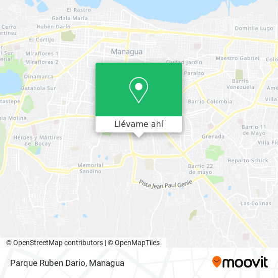Mapa de Parque Ruben Dario