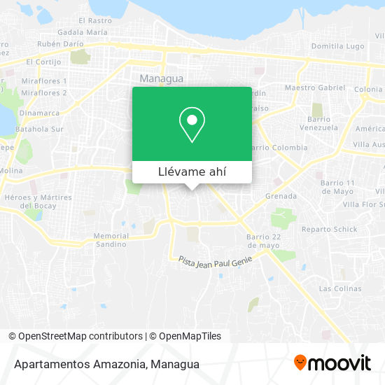 Mapa de Apartamentos Amazonia