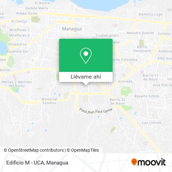 Mapa de Edificio M - UCA