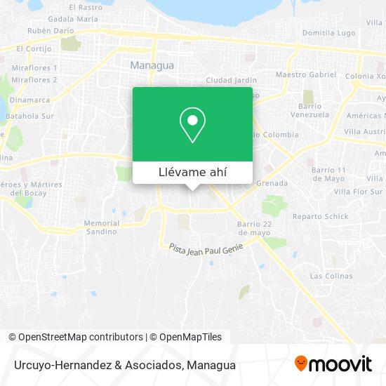 Mapa de Urcuyo-Hernandez & Asociados
