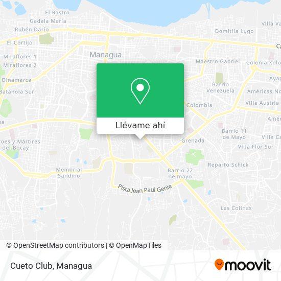 Mapa de Cueto Club