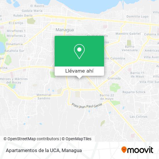 Mapa de Apartamentos de la UCA