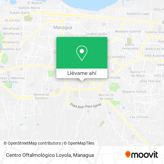 Mapa de Centro Oftalmológico Loyola