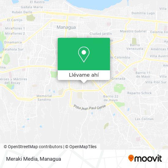 Mapa de Meraki Media
