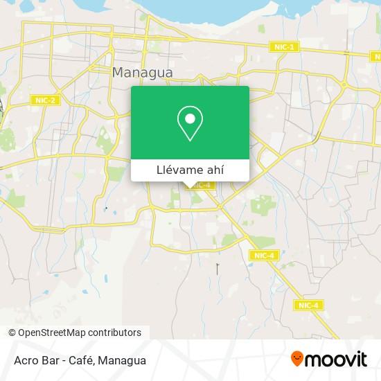 Mapa de Acro Bar - Café
