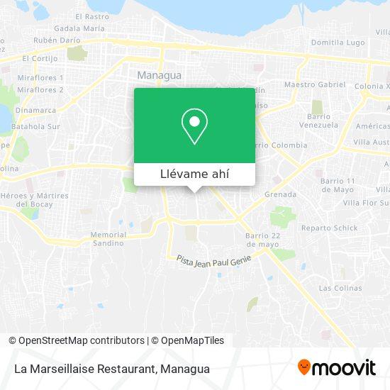 Mapa de La Marseillaise Restaurant