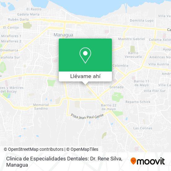 Mapa de Clinica de Especialidades Dentales: Dr. Rene Silva
