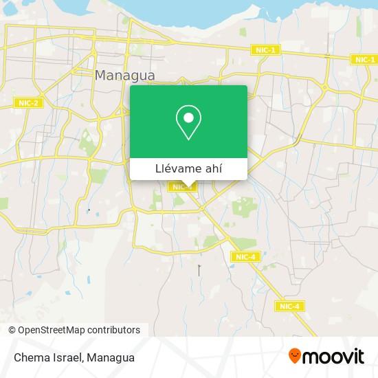 Mapa de Chema Israel
