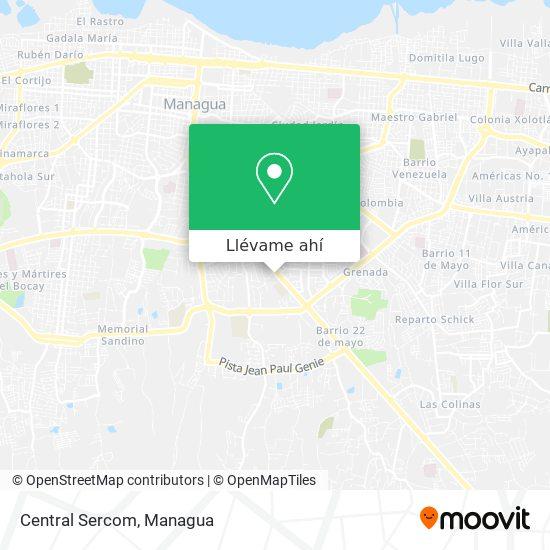 Mapa de Central Sercom