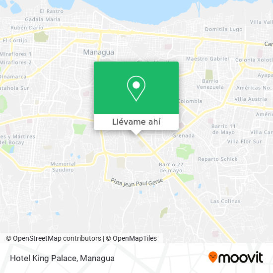 Mapa de Hotel King Palace