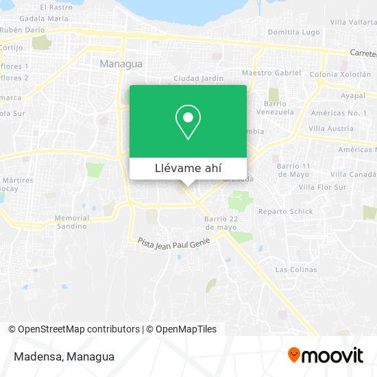 Mapa de Madensa