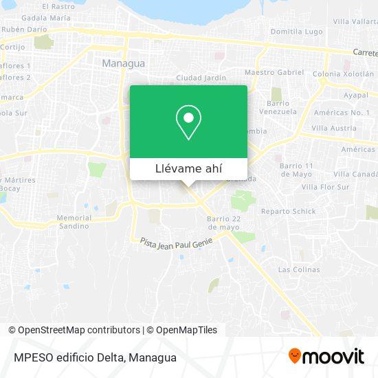 Mapa de MPESO edificio Delta