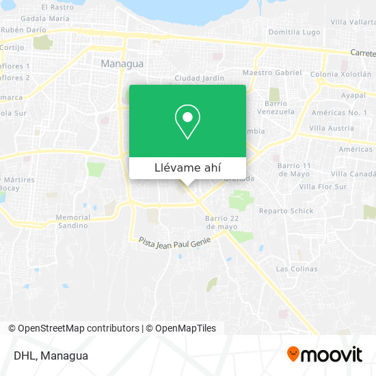 Mapa de DHL