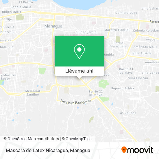 Mapa de Mascara de Latex Nicaragua