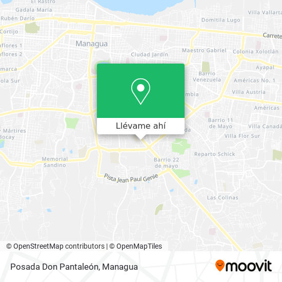 Mapa de Posada Don Pantaleón