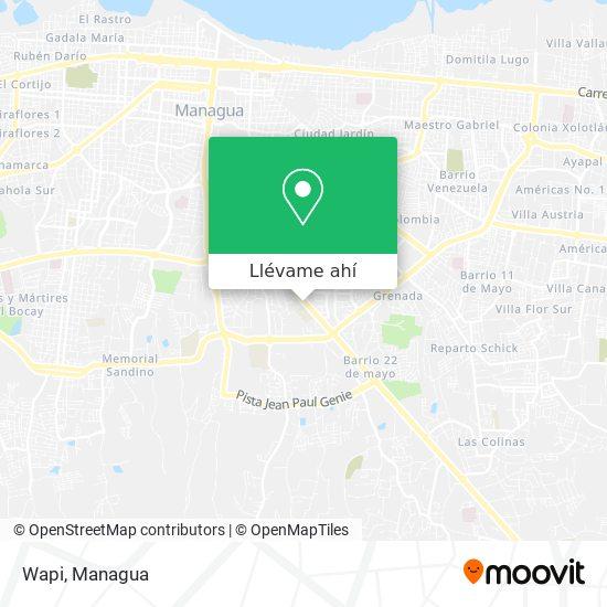 Mapa de Wapi