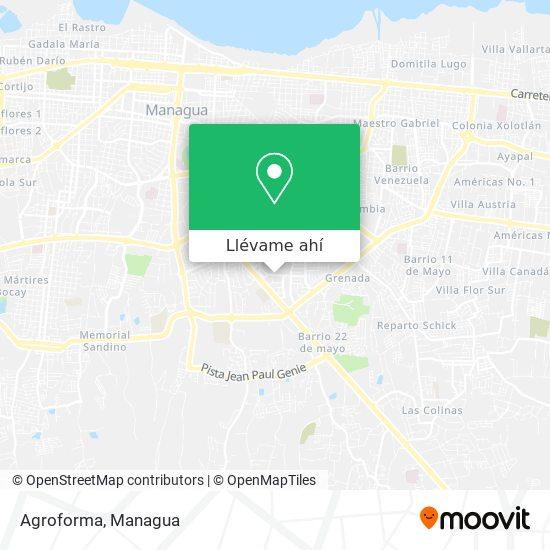 Mapa de Agroforma