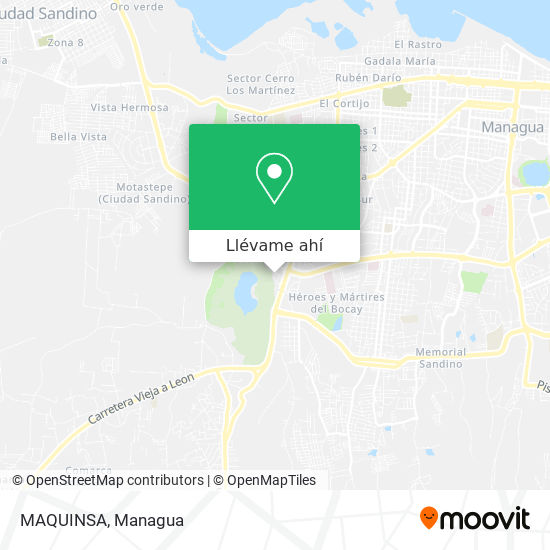 Mapa de MAQUINSA