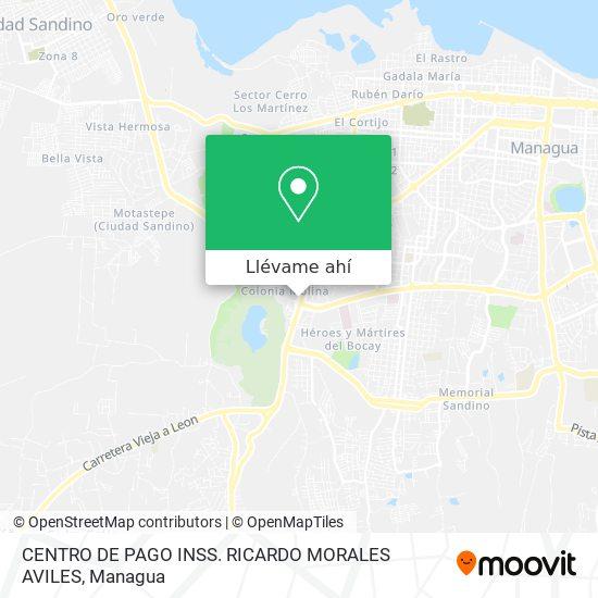 Mapa de CENTRO DE PAGO INSS. RICARDO MORALES AVILES