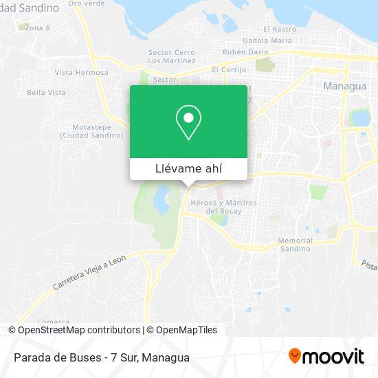 Mapa de Parada de Buses - 7 Sur