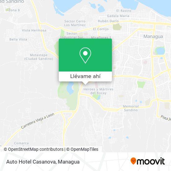Mapa de Auto Hotel Casanova