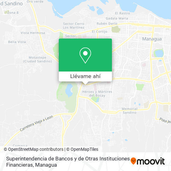 Mapa de Superintendencia de Bancos y de Otras Instituciones Financieras