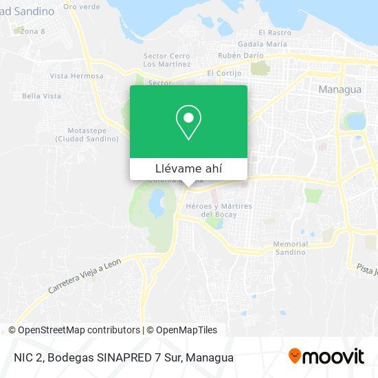 Mapa de NIC 2, Bodegas SINAPRED 7 Sur