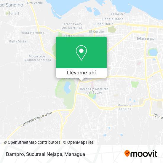 Mapa de Bampro, Sucursal Nejapa