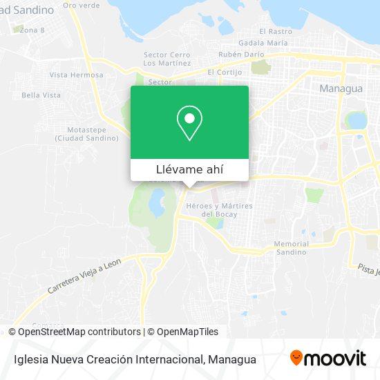 Mapa de Iglesia Nueva Creación Internacional