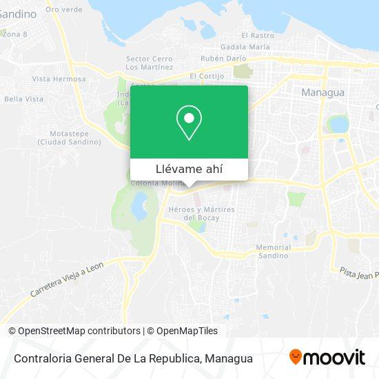 Mapa de Contraloria General De La Republica