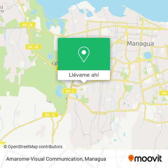 Mapa de Amarome-Visual Communication