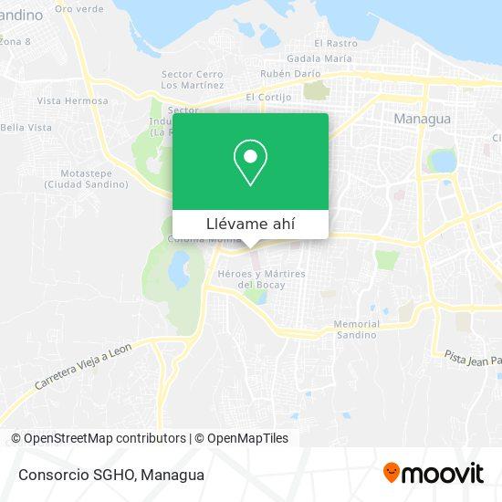 Mapa de Consorcio SGHO