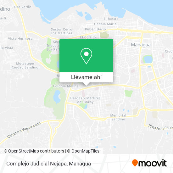 Mapa de Complejo Judicial Nejapa