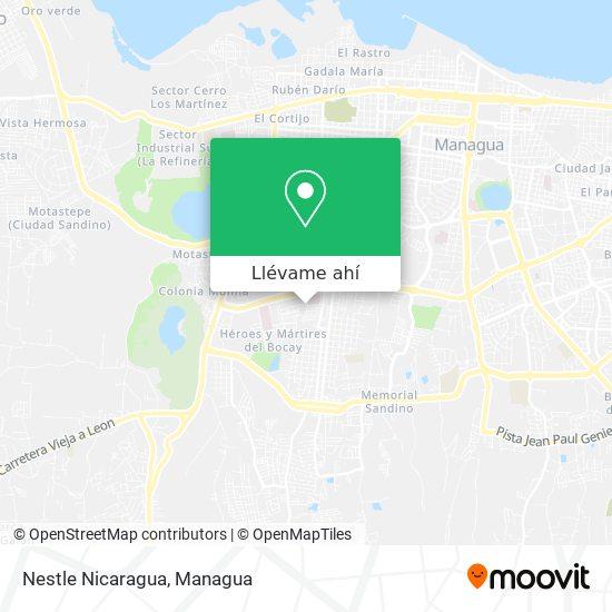Mapa de Nestle Nicaragua