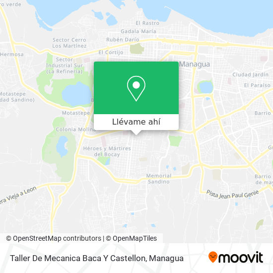 Mapa de Taller De Mecanica Baca Y Castellon