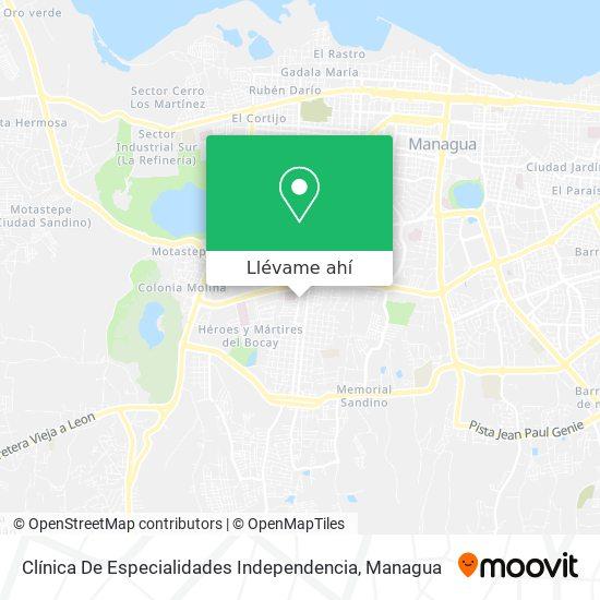Mapa de Clínica De Especialidades Independencia