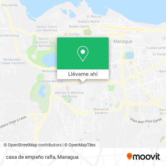 Mapa de casa de empeño rafla