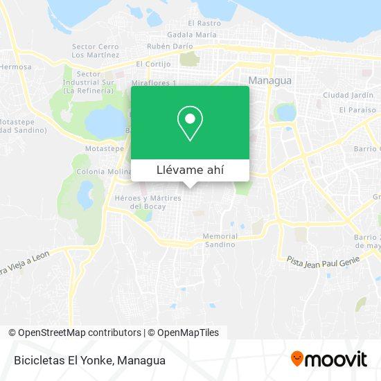 Mapa de Bicicletas El Yonke