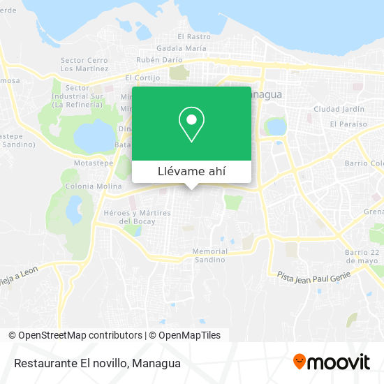 Mapa de Restaurante El novillo