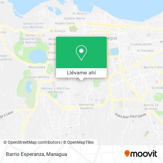 Mapa de Barrio Esperanza