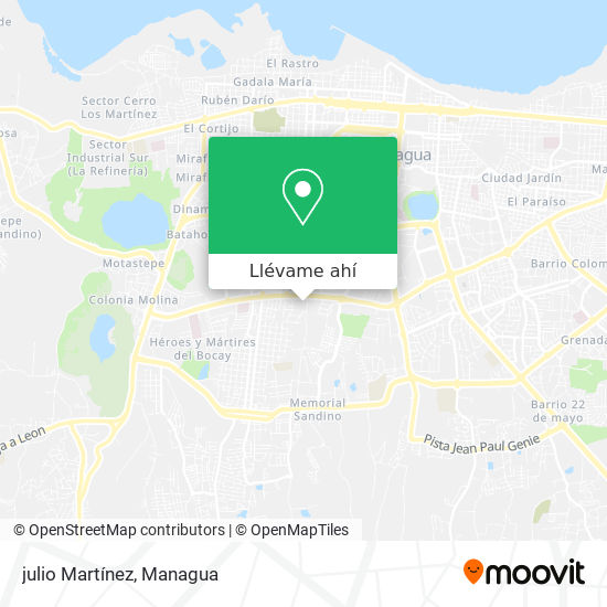 Mapa de julio Martínez