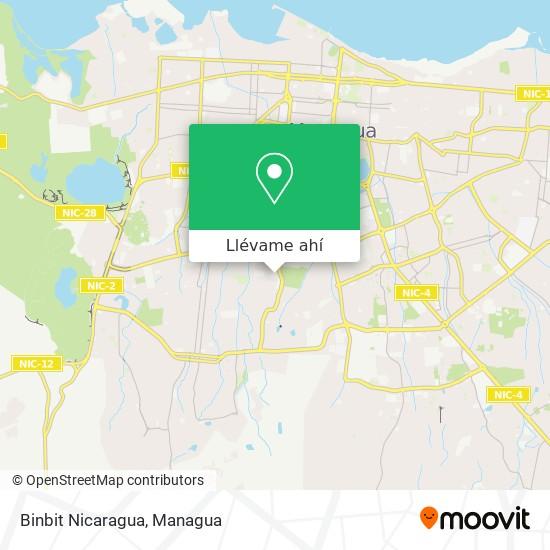 Mapa de Binbit Nicaragua