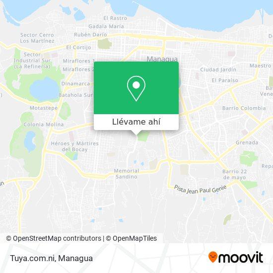 Mapa de Tuya.com.ni