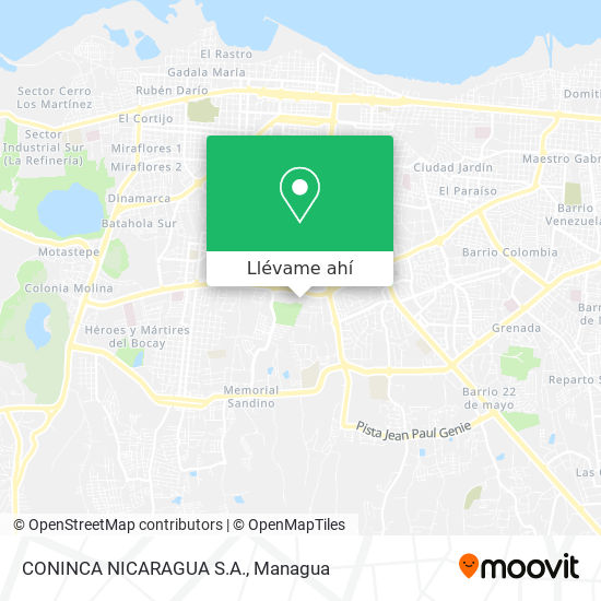 Mapa de CONINCA NICARAGUA S.A.