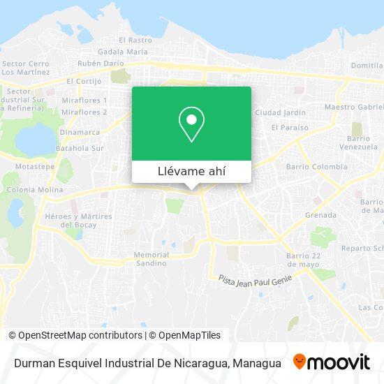 Mapa de Durman Esquivel Industrial De Nicaragua