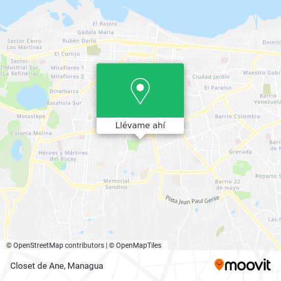 Mapa de Closet de Ane