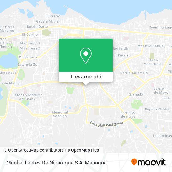Mapa de Munkel Lentes De Nicaragua S.A