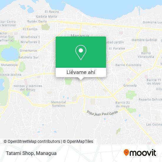 Mapa de Tatami Shop