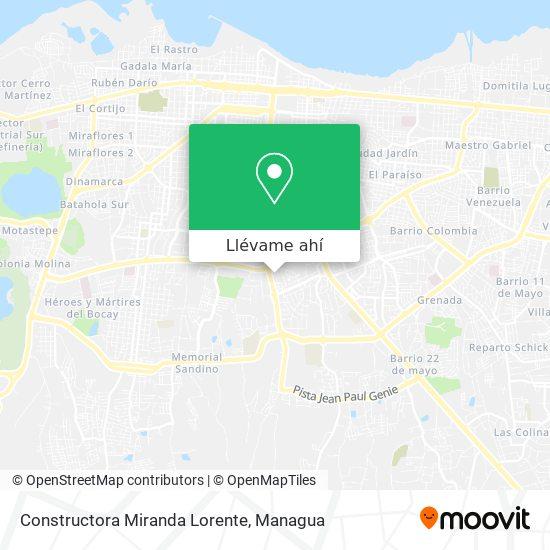 Mapa de Constructora Miranda Lorente
