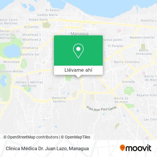 Mapa de Clínica Médica Dr. Juan Lazo